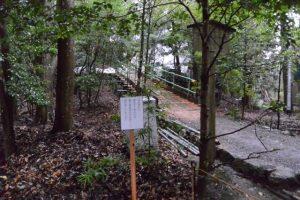 大修繕が進められる津長神社(皇大神宮 摂社)の遠望
