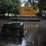 雨にも映える打懸神社(豊受大神宮 末社)
