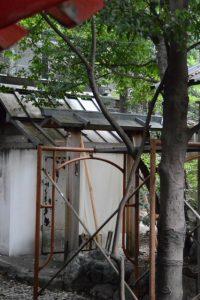 修繕が開始された並社、須原大社(伊勢市一之木)