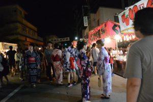 中橋通りの夜店(河崎天王祭イベント)