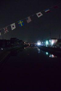 中橋から勢田川の下流方向の遠望