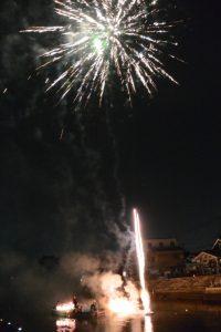 水中金魚花火(河崎天王祭イベント)