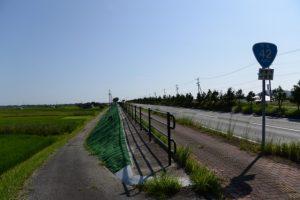 国道42号を汐合大橋方向へ