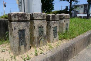清浄坊橋(勢田川)の古い親柱