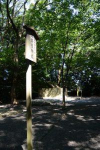草奈伎神社前から望む大間国生神社(ともに豊受大神宮 摂社)