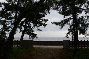 御塩殿神社の社域から望む二見浦