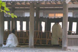 風日祈祭の準備、遙祀のための九丈殿(外宮)