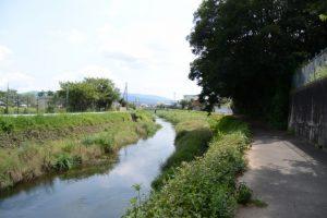 落田橋から汁谷川上流方向へ