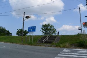 宮川親水公園付近の交差点