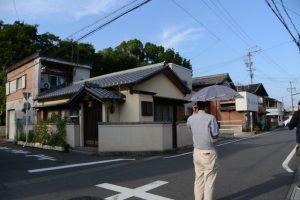 清野井庭神社(豊受大神宮 摂社)付近