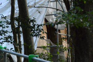 先週も目にした新しい玉垣、津長神社(皇大神宮 摂社)