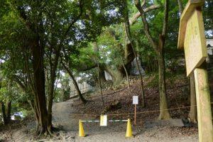 饗土橋姫神社前から望む大水神社(皇大神宮 摂社)方向
