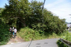 旧道にて山崎の大岩へ