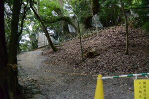 饗土橋姫神社前から望む大水神社(皇大神宮 摂社)