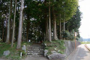 旧大野木神社入口(度会町大野木)