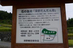 石の芸術「深野だんだん田」の説明板(松阪市飯南町深野)