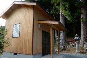 新しい建物(五箇谷神社)