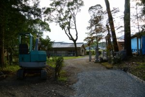 式年遷宮に向けて修繕中の五箇谷神社(多気郡多気町朝柄)