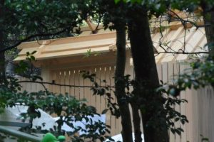 覆屋が取り外された津長神社(皇大神宮 摂社)