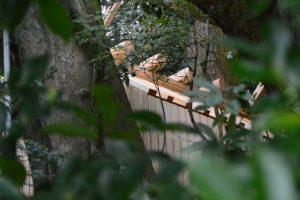覆屋が取り外された大水神社(皇大神宮 摂社)