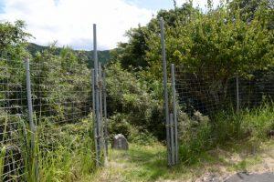 「禊の場」の石碑、一之瀬川の「岩の渕」へ