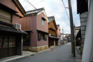 伊勢ゲストハウス紬舎 Tsumugiyaから世古を出た河崎表通り、富田宅付近