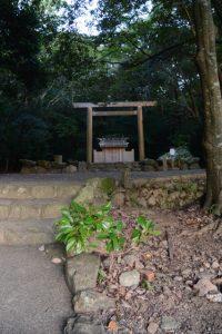 作業路が取り外された饗土橋姫神社付近(皇大神宮 所管社)