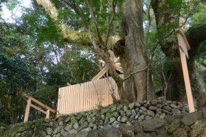 大修繕を終えた大水神社と定の立札