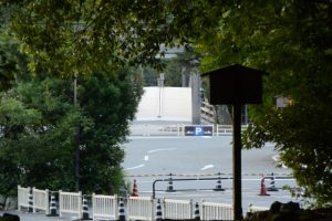 饗土橋姫神社(皇大神宮 所管社)から望む宇治橋方向