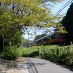 平尾神社と近鉄鳥羽線(伊勢市一宇田町)
