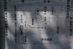 相生神社の参拝巡路図