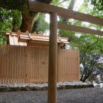 御遷座を終えた大水神社(皇大神宮 摂社)