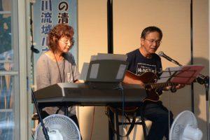 観音祭コンサートのリハーサル(注連指 正法寺)