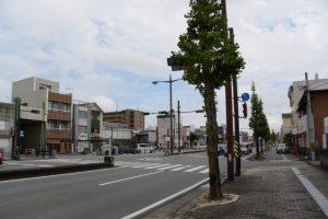 山田三方會合所跡付近の交差点(伊勢市大世古、一之木)
