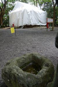 大修繕が続けられる草奈伎神社(豊受大神宮 摂社)