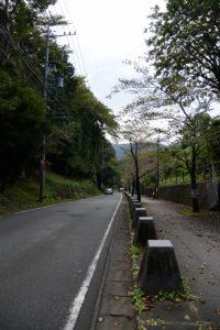 牛谷坂の下り(古市街道)