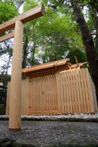 9月15日に御遷座を終えた津長神社(皇大神宮 摂社)