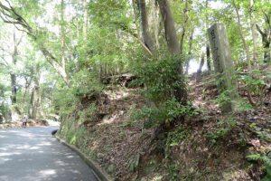 「月よみの宮さんけい道」の石標から内宮神馬休養所方向へ