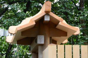 殿舎は大修繕を終え鳥居も建てられた草奈伎神社(豊受大神宮 摂社)