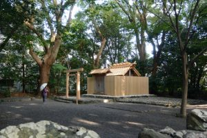 御遷座を終えた草奈伎神社(豊受大神宮 摂社)