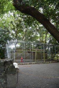 大修繕が開始された大間国生神社(豊受大神宮 摂社)