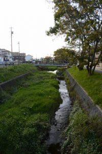 厚生第二橋から望む桧尻川(?)