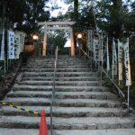 造替された足神さんの前の鳥居、宇治神社(伊勢市宇治今在家町)