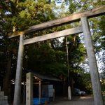 造替が予定されている鳥居、須原大社(伊勢市一之木)