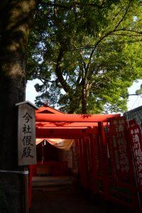 一部の御神体が今社へ遷された假殿、清川稲荷大明神(伊勢市宮町)