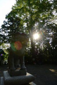 22日の御遷座を待つ坂社(伊勢市八日市場町)