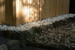 お白石も大粒に交換されていた草奈伎神社(豊受大神宮 摂社)