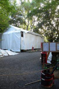 大修繕が続けられる大間国生神社(豊受大神宮 摂社)