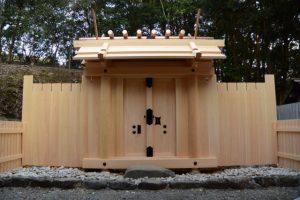 御垣御門の御扉も設置された宇治神社(伊勢市宇治今在家町)