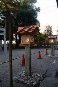 常夜燈がお披露目されていた今社(伊勢市宮町)